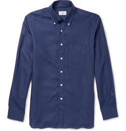 Dunhill - Billy Button-Down Collar Linen Shirt