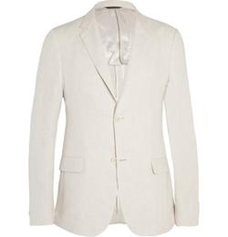 Calvin Klein Collection   - Stone Thompson Slim-Fit Linen Suit Jacket