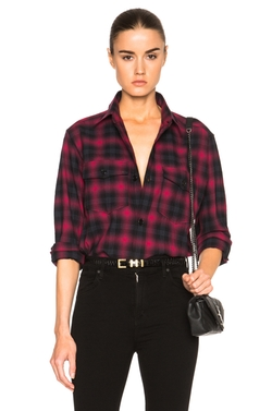 Saint Laurent  - Plaid Tartan Oversize Shirt