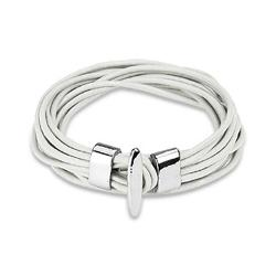 West Coast Jewelry  - White Multi Strand Leather Bracelet