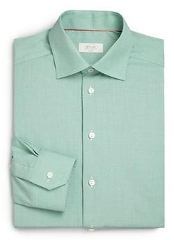 Eton Of Sweden  - Houndstooth Cotton Dress Shirt