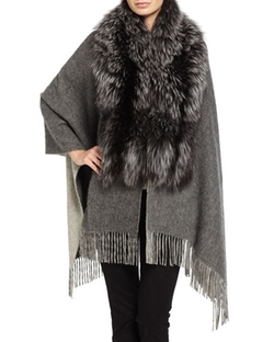 Pologeorgis  - Fox Fur & Wool-Blend Shawl