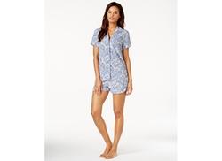 Alfani  - Short-Sleeve Notch-Collar Pajama Set