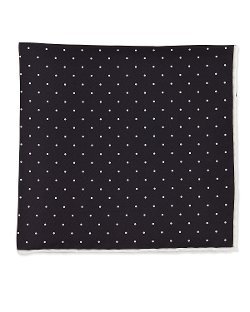 Neiman Marcus	  - Dot-Print Pocket Square