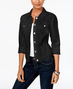 Style & Co.  - Deep Black Wash Denim Jacket