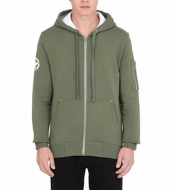 Alpha Industries - Army Hooded Zip-Up Cotton Sweatshirt