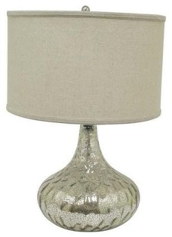 Casa - Three Hands Silver Mercury Glass Table Lamp