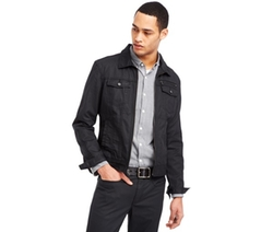 Kenneth Cole - Reaction Light Coated Denim Trucker Jacket