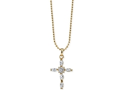 Vatican  - Gold-Tone Cross Pendant Necklace