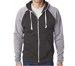 Yoga Clothing For You - Color Contrast Zip Hoodie