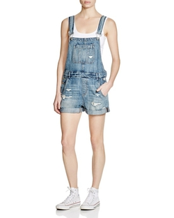 BlankNYC - Distressed Denim Shortalls