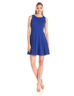 Julian Taylor - Solid Fit & Flare Dress