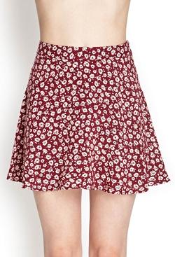 Forever21 - Floral Print Skater Skirt