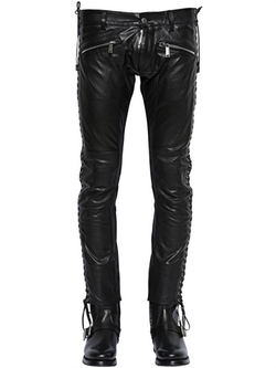 Dsquared2 - Lace-Up Leather Pants