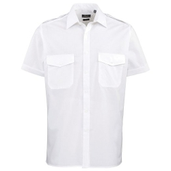Premier - Short Sleeve Pilot Plain Work Shirt