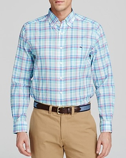 Vineyard Vines  - Tucker Minnow Plaid Woven Button Down Shirt
