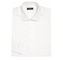 611 Saks Fifth Avenue New York  - Solid Cotton Dress Shirt