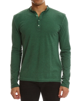 Massimo Alba - Long Sleeve Henley Shirt