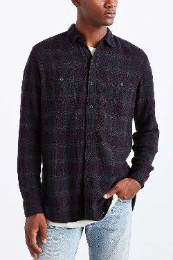 Koto UKA  - Overdyed Plaid Button-Down Shirt