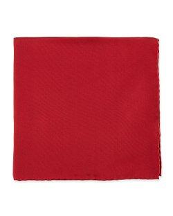 Neiman Marcus - Cranberry Silk Pocket Square
