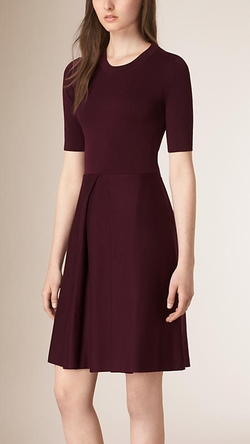 Burberry - Knitted Silk Wool Dress