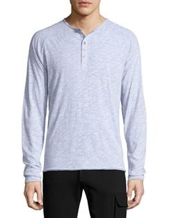 ATM  - Raglan-Sleeve Slub Henley Shirt