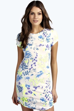 Boohoo - Sally Floral Bodycon Dress