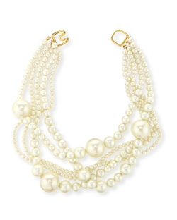 Kenneth Jay Lane  - Multi-Strand Pearly Bead Necklace