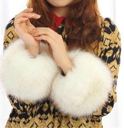 Chericom Store  - Fur Wristband Arm Warmer Cuff