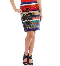 Trina Turk - Crissy Paisley Stripe-Print Skirt