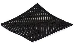 Black Brown 1826  - 4 Panel Dot Pocket Square