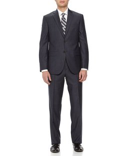 Neiman Marcus  - Two-Piece Neat Wool Suit