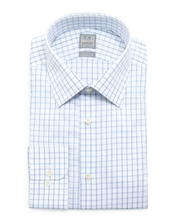Ike Behar - Check-Windowpane Woven Dress Shirt