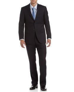 Neiman Marcus - Solid GabardineTrim-Fit Suit, Navy