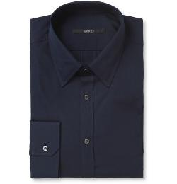Gucci   - Navy Slim-Fit Cotton Shirt