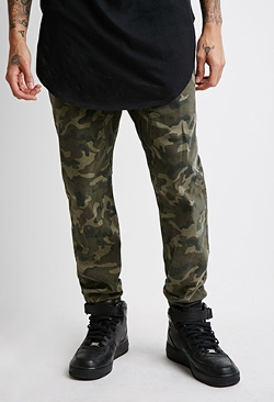 Forever21 - Paneled Camo Jogger Pants