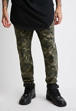 Forever21 - Paneled Camo Jogger Pants