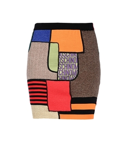 Moschino - Multi Color Patch Mini skirt