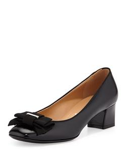 Salvatore Ferragamo - My Muse Patent Bow Pump Shoes