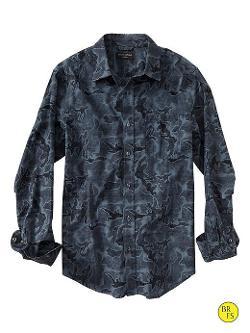 Banana Republic - Factory Slim-Fit Soft-Wash Camo Shirt