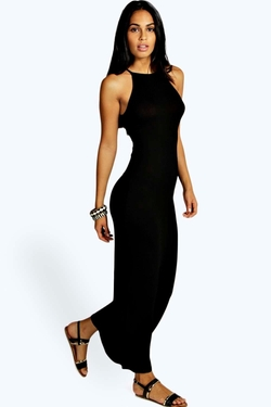 Boohoo Petite - Petite Natasha High Neck Maxi Dress