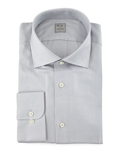 Ike Behar - Solid Woven Dress Shirt