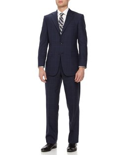 Hickey Freeman  - Two-Piece Plaid Wool Suit