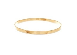 Lana Jewelry - Medium Vanity Yellow Gold Bangle Bracelet