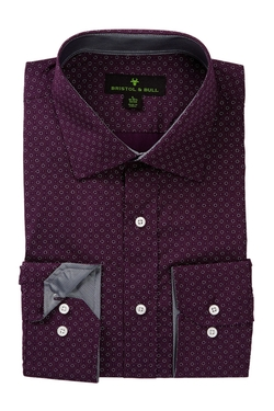 Bristol & Bull  - Spread Collar Long Sleeve Dress Shirt