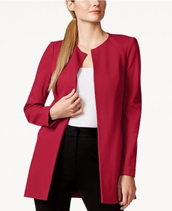 Laundry By Shelli Segal  - Long Ponte Open-Front Jacket