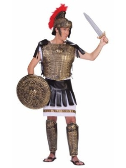 Costume SuperCenter - Roman Soldier Set Gold Adult Costume
