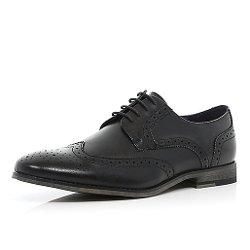 River Island - Black Formal Brogues Shoes