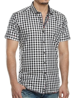 Au Noir - Check Short Sleeve Dress Shirt