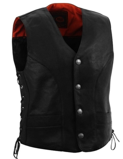 First Classics - Naked Cowhide Leather Vest